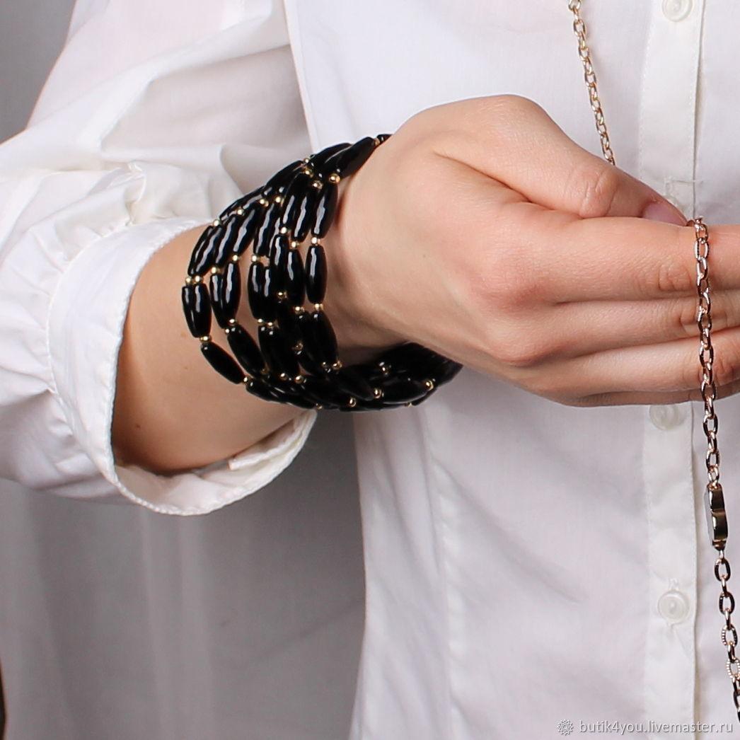 The black onyx bracelet, Necklace, Moscow,  Фото №1