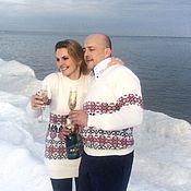 Одежда handmade. Livemaster - original item Knitted Norwegian sweater Valentine.. Wedding in the Norwegian style. Handmade.