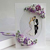 Свадебный салон ручной работы. Ярмарка Мастеров - ручная работа Свадебная открытка в коробочке - Романтичная. Handmade.
