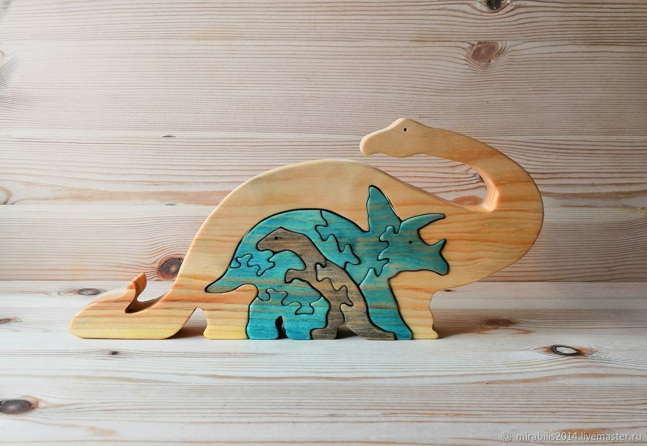 Пазл динозавры, Мягкие игрушки, Томск,  Фото №1