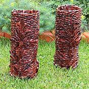 Для дома и интерьера ручной работы. Ярмарка Мастеров - ручная работа Плетеная ваза, плетение из бумаги. Handmade.
