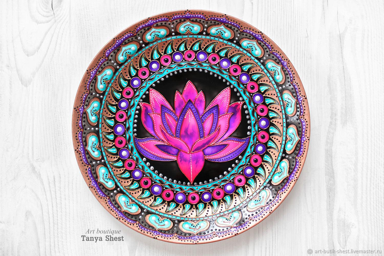 'Lotus Deluxe' decorative plate, Plates, Krasnodar,  Фото №1