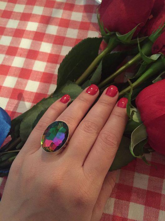 """Кольца ручной работы. Ярмарка Мастеров - ручная работа. Купить Кольцо """"Хамелеон"""". Handmade. Хамелеон, серебро 925, кольцо с камнем"""
