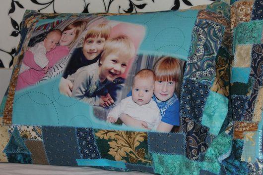 """Текстиль, ковры ручной работы. Ярмарка Мастеров - ручная работа. Купить Наволочка с фотографиями """"Мамино счастье"""" № 456. Handmade."""