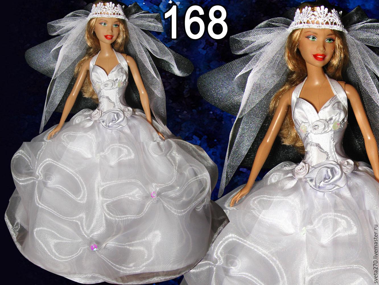 Как сшить для куклы барби с свадебных платьях 914