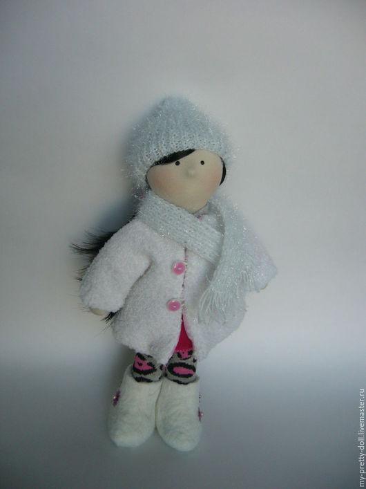 Коллекционные куклы ручной работы. Ярмарка Мастеров - ручная работа. Купить Кукла Снежка  девочка Зима. Handmade. Снежка, розовый