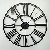 """Для дома и интерьера handmade. Livemaster - original item Big clock 80см с увеличенными стрелками """"Rooma S"""". Handmade."""