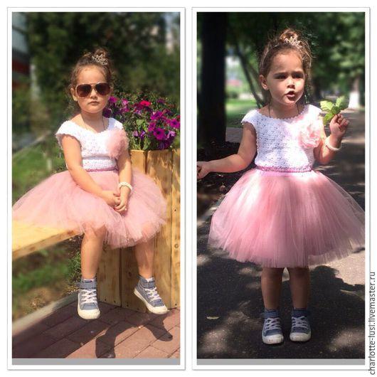 Одежда для девочек, ручной работы. Ярмарка Мастеров - ручная работа. Купить Юбка-пачка из фатина для девочки. Handmade. Розовый