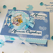 Подарки к праздникам ручной работы. Ярмарка Мастеров - ручная работа Мамины сокровища в голубой гамме. Handmade.