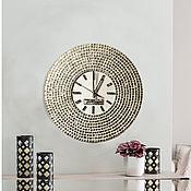 """Часы классические ручной работы. Ярмарка Мастеров - ручная работа Интерьерные часы """"Белое Солнце"""". Handmade."""