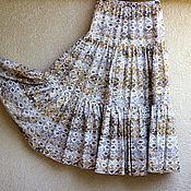 Одежда ручной работы. Ярмарка Мастеров - ручная работа Летняя хлопковая юбка в пол. Handmade.