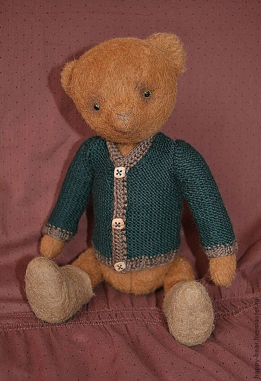 Мишки Тедди ручной работы. Ярмарка Мастеров - ручная работа. Купить TODD. Handmade. Тёмно-зелёный, мохер