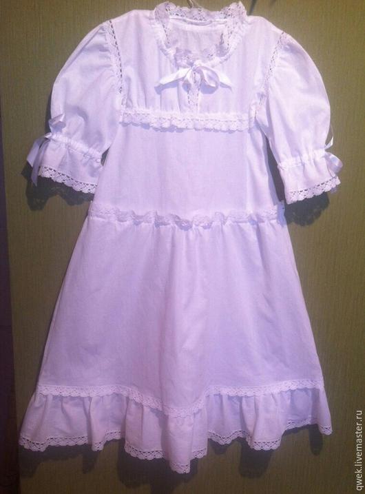 Крестильные принадлежности ручной работы. Ярмарка Мастеров - ручная работа. Купить Крестильное платье от 3 лет. Handmade. Белый