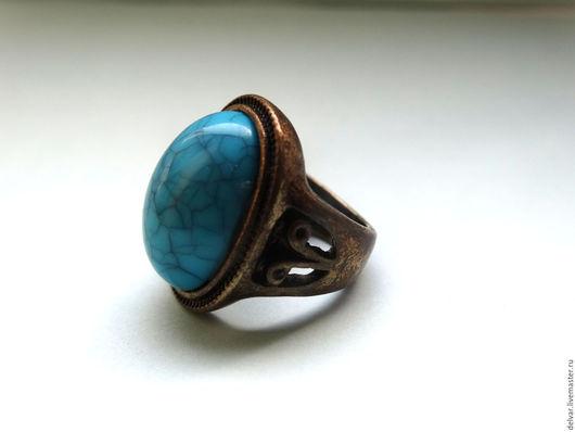 """Кольца ручной работы. Ярмарка Мастеров - ручная работа. Купить Кольцо """"Бирюза"""". Handmade. Бирюзовый, натуральный камень, заметное кольцо"""