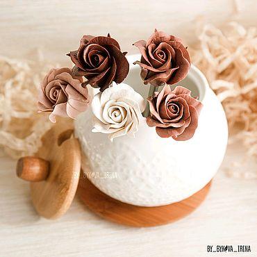 Посуда ручной работы. Ярмарка Мастеров - ручная работа Ложка с шоколадной розой. Handmade.