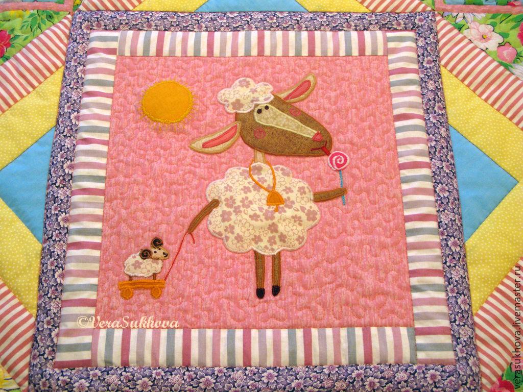 Аппликация овечка сластена. Лоскутное покрывало для девочки, детское  лоскутное одеяло