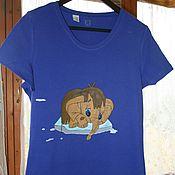 """Одежда handmade. Livemaster - original item T-shirt """"Mammoth"""", hand-painted. Handmade."""
