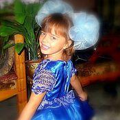 """Работы для детей, ручной работы. Ярмарка Мастеров - ручная работа платье """"Голубой топаз"""" авторская работа. Handmade."""