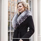 Одежда handmade. Livemaster - original item Winter coat with silver Fox fur (removable fur). Handmade.