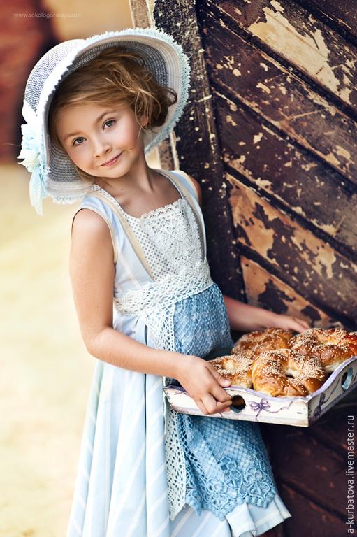 Одежда для девочек, ручной работы. Ярмарка Мастеров - ручная работа. Купить Комплект винтажный. Handmade. Кремовый, платье для девочек