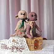 Куклы и игрушки ручной работы. Ярмарка Мастеров - ручная работа Яблочный с корицей, вязаный тедди, мишка-саше, льняной авторский мишка. Handmade.