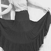 """Одежда ручной работы. Ярмарка Мастеров - ручная работа Юбка в пол """"Ночь"""". Handmade."""