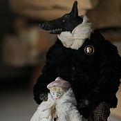 Куклы и игрушки handmade. Livemaster - original item Garret doll: The wolf and little red riding hood. Handmade.