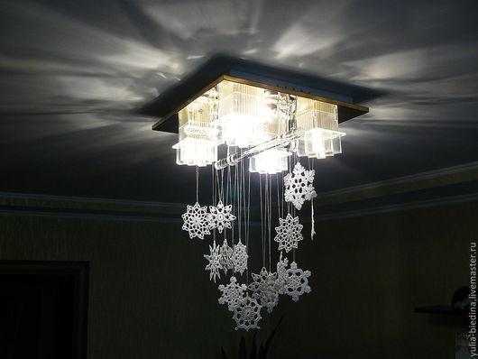 New Year 2017 handmade. Livemaster - handmade. Buy Interior decoration snowflake.Snowflakes, cotton
