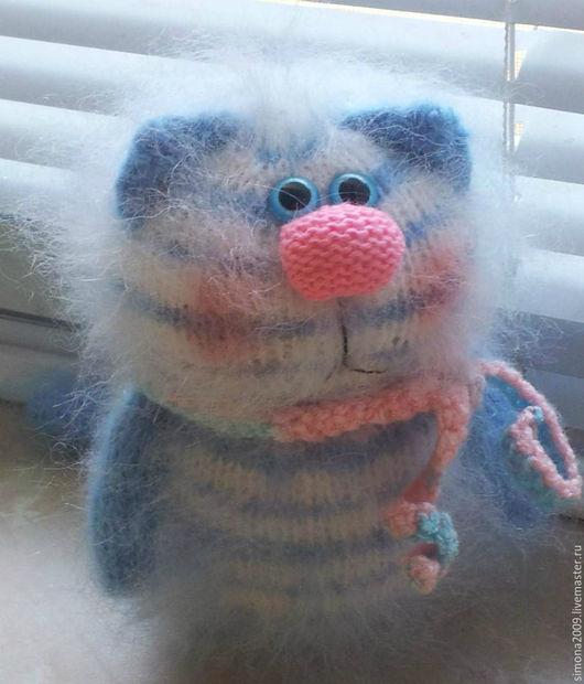 Игрушки животные, ручной работы. Ярмарка Мастеров - ручная работа. Купить Котик Голубоглазый Полосатик - пушистый подарок, сувенир. Handmade.