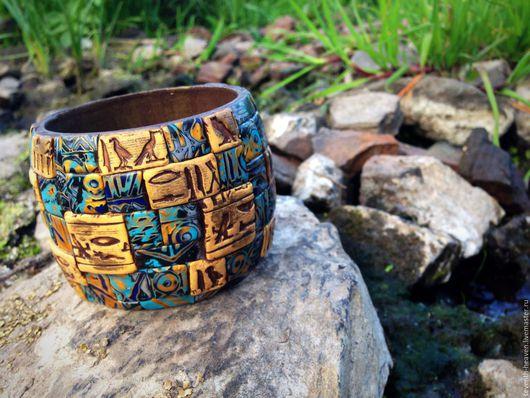 Браслеты ручной работы. Ярмарка Мастеров - ручная работа. Купить Браслет из полимерной глины СИНАЙ. Handmade. Комбинированный, египет