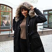 Одежда handmade. Livemaster - original item Parka-windbreaker jacket with natural raccoon fur. Handmade.