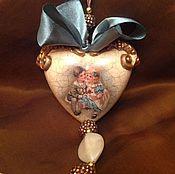 """Подарки к праздникам ручной работы. Ярмарка Мастеров - ручная работа Интерьерное сердечко """" На скамейке"""". Handmade."""