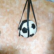 Сумки и аксессуары ручной работы. Ярмарка Мастеров - ручная работа Сумка кожаная Футбольный мяч. Handmade.