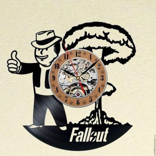 """Часы для дома ручной работы. Ярмарка Мастеров - ручная работа. Купить Часы из пластинки """"Fallout"""". Handmade. Fallout, комбинированный, часы"""