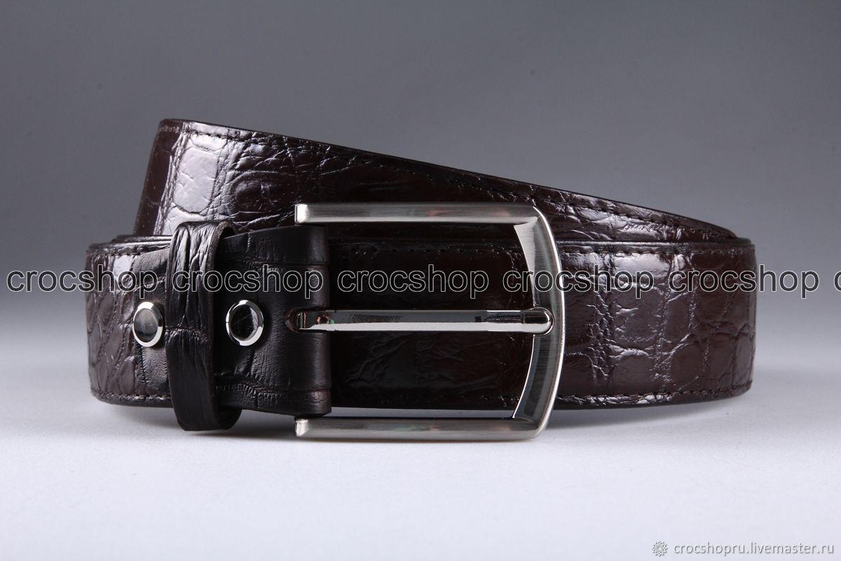 Ремень из кожи крокодила IMA3023K45, Ремни, Москва, Фото №1