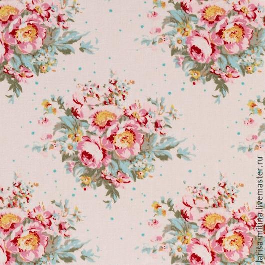 Шитье ручной работы. Ярмарка Мастеров - ручная работа. Купить Ткань Тильда Floral Dove White. Handmade. Разноцветный