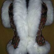 Одежда ручной работы. Ярмарка Мастеров - ручная работа Жилет из павловопосадских платков. Handmade.