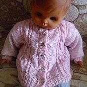 Одежда ручной работы. Ярмарка Мастеров - ручная работа вязаная кофточка для новорожденного. Handmade.