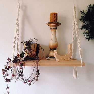 Мебель ручной работы. Ярмарка Мастеров - ручная работа Полка макраме. Handmade.