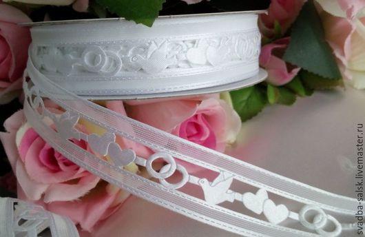 Шитье ручной работы. Ярмарка Мастеров - ручная работа. Купить Кружево свадебное (белый) 25 мм. Handmade. Кружево