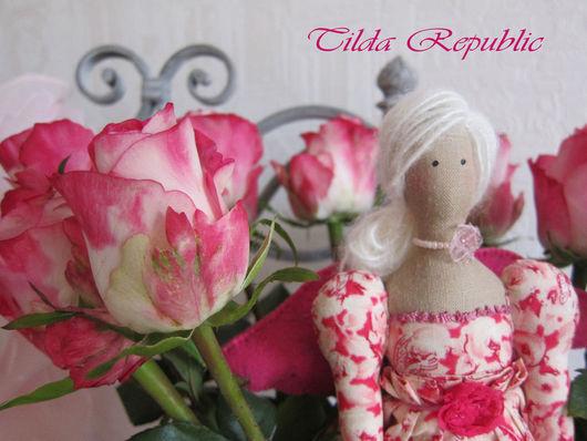 """Куклы Тильды ручной работы. Ярмарка Мастеров - ручная работа. Купить Тильда """"Фея роз"""" (для Елены). Handmade. Розовый"""