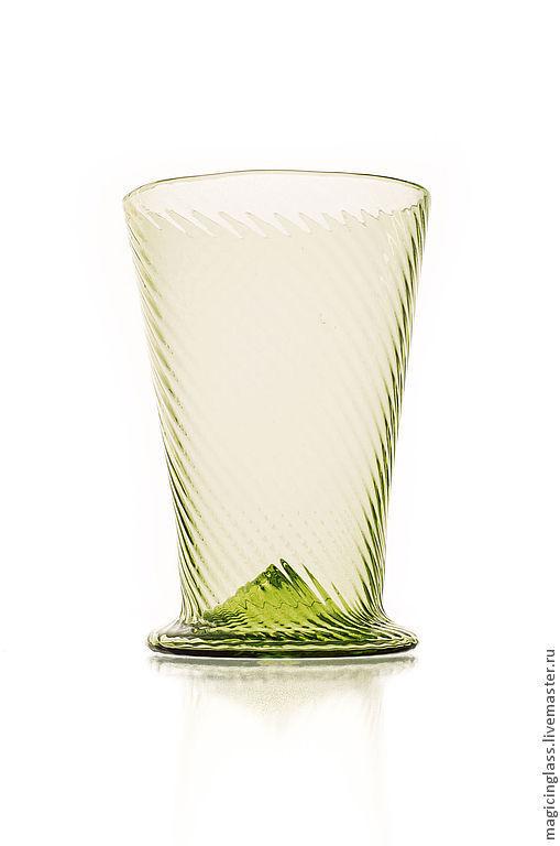 Рюмки ручной работы. Ярмарка Мастеров - ручная работа. Купить Коллекционное историческое стекло. Рюмка № 57.. Handmade. Зеленый