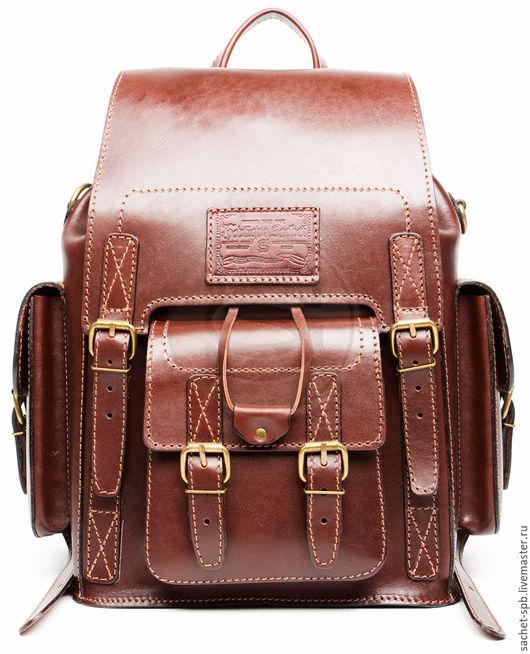 """Рюкзаки ручной работы. Ярмарка Мастеров - ручная работа. Купить Кожаный рюкзак """"Кэмэл"""" коричневый. Handmade. Кожаный рюкзак"""