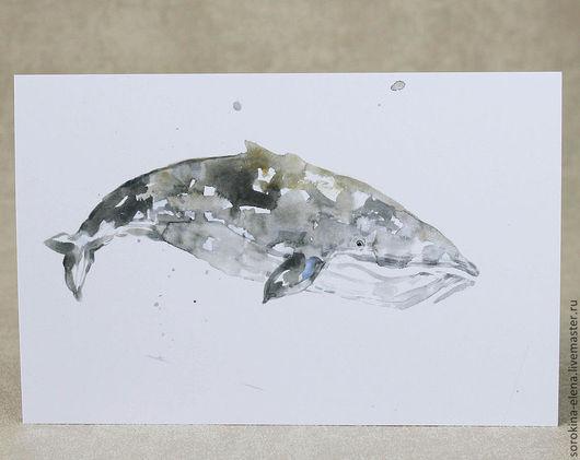Открытки на все случаи жизни ручной работы. Ярмарка Мастеров - ручная работа. Купить Три открытки про китов и тюленя. Handmade.