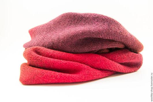 Шарфы и шарфики ручной работы. Ярмарка Мастеров - ручная работа. Купить Снуд KAUNI RED (100% шерсть). Handmade. Абстрактный