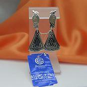 handmade. Livemaster - original item Vintage silver earrings