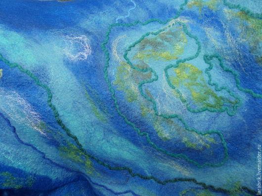 Шали, палантины ручной работы. Ярмарка Мастеров - ручная работа. Купить Тайны мирового океана. Handmade. Синий, шерсть меринос