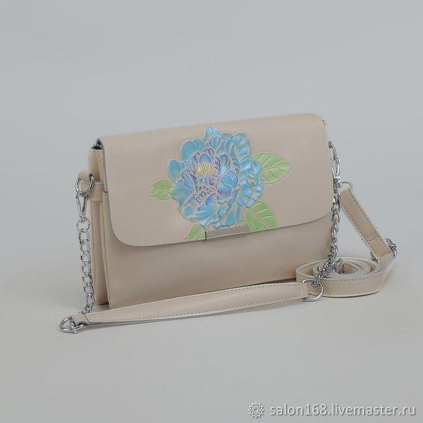 Женские сумки ручной работы. Ярмарка Мастеров - ручная работа. Купить Женская сумка из натуральной кожи молочного цвета. Handmade.