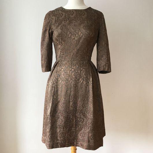 Одежда. Ярмарка Мастеров - ручная работа. Купить Винтажное платье 1860'х годов. Handmade. Винтажное платье, платье из жаккарда