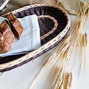 Подносы ручной работы. Ярмарка Мастеров - ручная работа Плетеный овальный поднос сервировочный. Handmade.